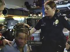 Black dude pounding two hot cops