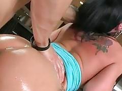 Big tits girl fucked violently