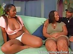 Black babe dildos herself with big toy in her tight black pussy