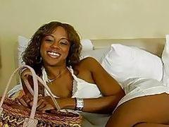 Teen ebony girl doing it doggy style