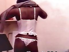 Obedient black debutante from Africa gets pussy and asshole exploited by white guys