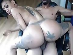 Big Fake Booty Ebony Rides BBC