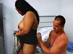 A fatty ebony nurse do sex with her patient